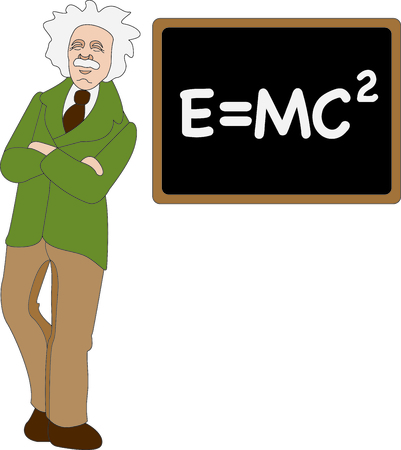 equivalence: This Albert Einstein design is a perfect image to add to a design for a science classroom.
