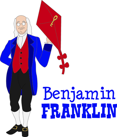 This Benjamin Franklin design is a perfect image to add to a design for a science classroom.
