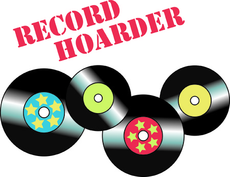 40: Remember the days of vinyl records and top 40 hits  This design is a throw back to that time and will add that sentimental memory to your project. Illustration