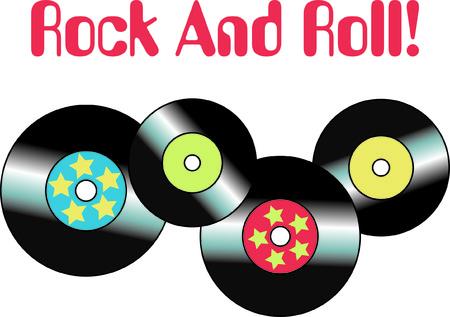 ビニール レコードの日を覚えて、トップ 40 ヒットこのデザインは、当時に戻ってスロー感傷的なメモリをプロジェクトに追加します。