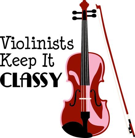 이 디자인은 바이올린 연주자에게 선물로 적합합니다. 그들은 그것을 좋아할 것이다! 일러스트