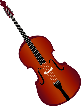 contrabass: This design is perfect for a gift for a bass player.  They will love it! Illustration