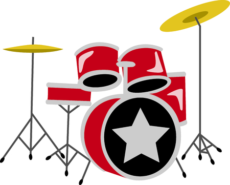 This design is perfect for a gift for a drum player.  They will love it!