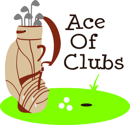drivers: Golf is a great past time sport to enjoy playing with a group or on your own. This is the perfect design to add to a golf towel. Illustration
