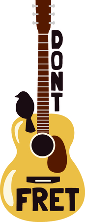 This design is perfect for a gift for a guitar player.  They will love it! Imagens - 43679971