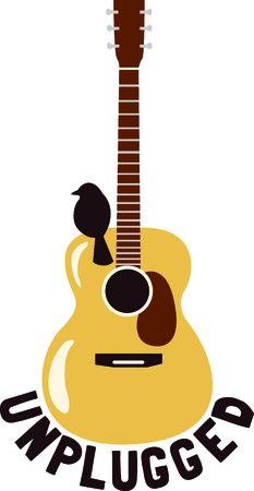 unplugged: This design is perfect for a gift for a guitar player.  They will love it!