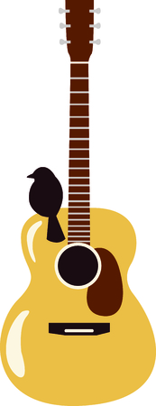 This design is perfect for a gift for a guitar player.  They will love it! Imagens - 43679988