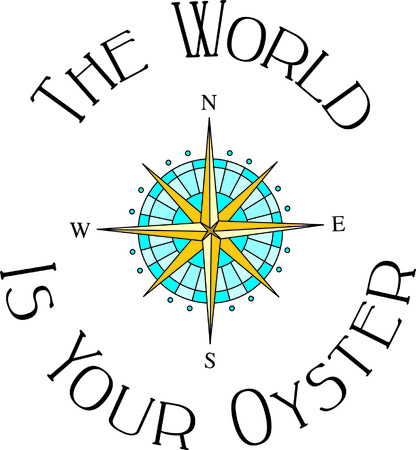 navigational: Map your journey with this classic compass.  Add it to your boat wear for a very distinctive look.