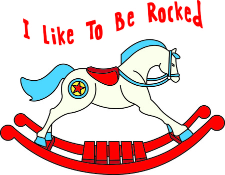 adds: This pony all ready for hours of rockin and ridin. He adds a special charm to kid gear for the little cowboy. Illustration