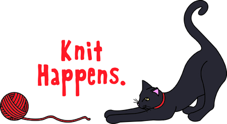 Kitties cant resist a ball of yarn - such a fun time!  This kitty is a perfect choice for making that special gift for your favorite feline lover.