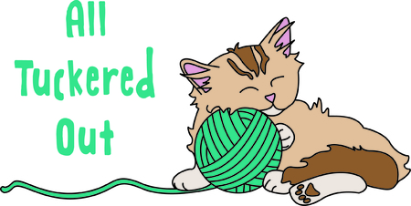 kitties: Kitties cant resist a ball of yarn - such a fun time!  This kitty is a perfect choice for making that special gift for your favorite feline lover.
