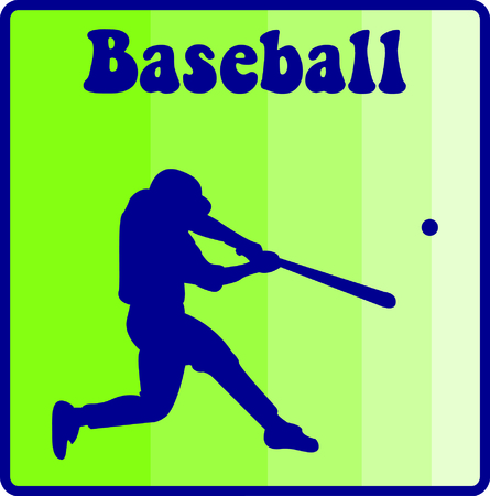 hardball: Play ball!  This silhouette of a baseball player is just perfect to decorate baseball gear like bags or hat sides. Illustration