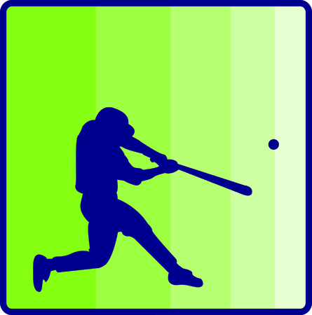 hitter: Play ball!  This silhouette of a baseball player is just perfect to decorate baseball gear like bags or hat sides. Illustration