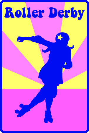 Lets skate!  This silhouette of a roller skater is just perfect to decorate skater gear like bags or hat sides. 向量圖像