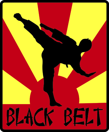 Karate!  This silhouette of a martial artist is just perfect to decorate karate gear like bags or hat sides. Illustration