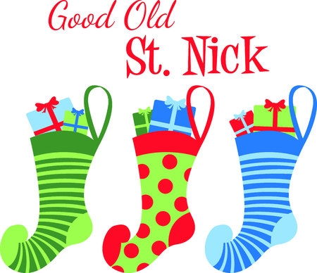 Send holiday Christmas cheers in your design with these cute stockings.