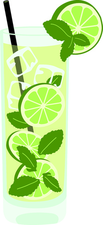 Enjoy a mojito to relax in the evening.  This image is perfect for your design.