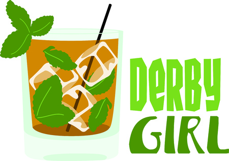 bourbon: Enjoy a mint julep to relax in the evening.  This image is perfect for your design.