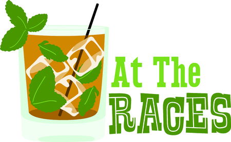 straw twig: Enjoy a mint julep to relax in the evening.  This image is perfect for your design.