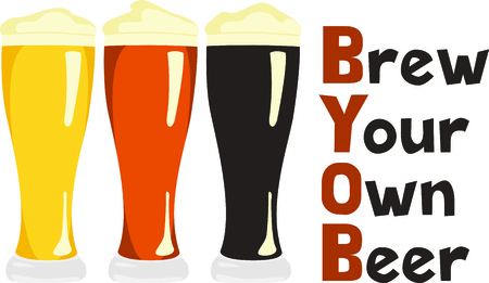Make your own brew and use this image for your design for your bottles Иллюстрация