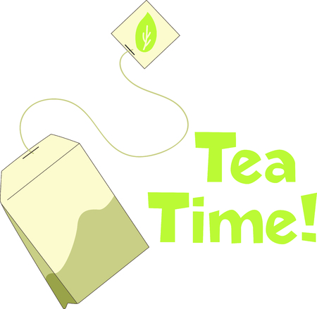 Its time for tea  to solve everything.  Give this to someone who needs cheering up.  They will love it! Ilustrace