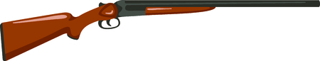 Enjoy the time outdoors shooting skeet with this perfect image. Banco de Imagens - 43681240