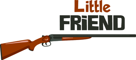 Enjoy the time outdoors shooting skeet with this perfect image. Иллюстрация