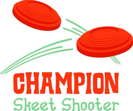 Enjoy the time outdoors shooting skeet with this perfect image. Vettoriali