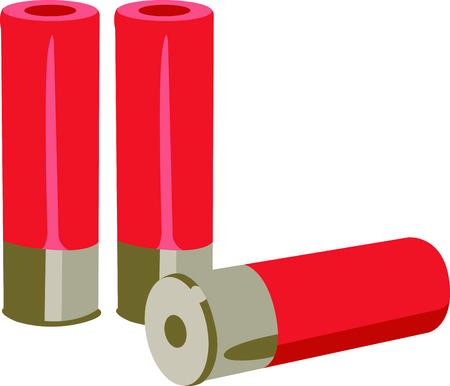 ammo: Enjoy the time outdoors shooting skeet with this perfect image. Illustration