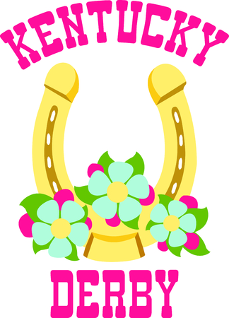 The golden horseshoe will bring more luck!  Use this image in your next design