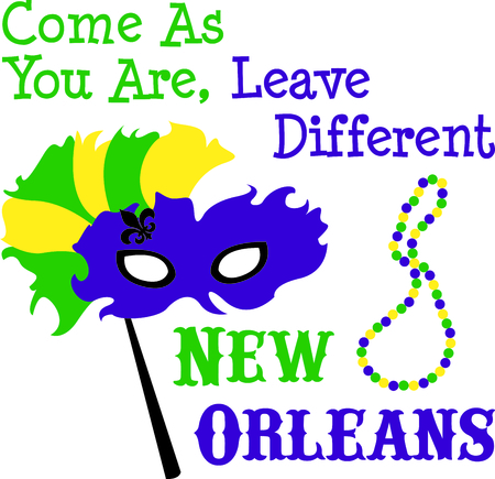 Use this masquerade mask for your Mardi Gras design.