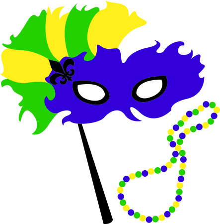 masque: Use this masquerade mask for your Mardi Gras design.
