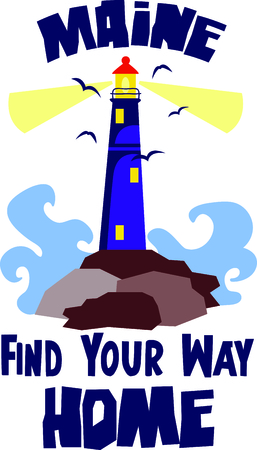 This lighthouse shines day or night.  Use this image in your next design.