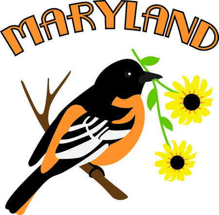 md: This bird is a cute image to add to your springtime design.