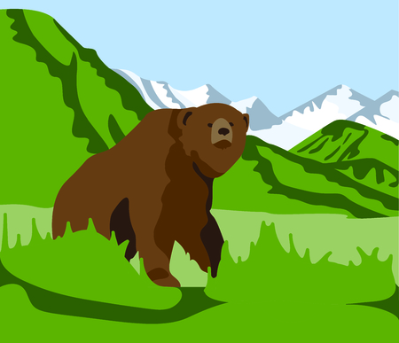 Remember the trip to the mountains and seeing your first grizzly bear with this cute design.