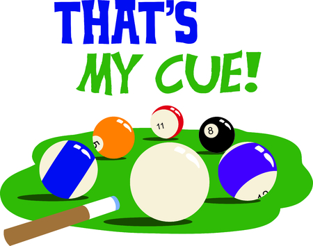 cue sticks: The game of billiards is a fun activity.  Use this image for your next design.