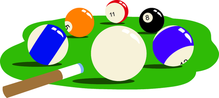 pocket billiards: The game of billiards is a fun activity.  Use this image for your next design.