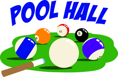 The game of billiards is a fun activity.  Use this image for your next design.