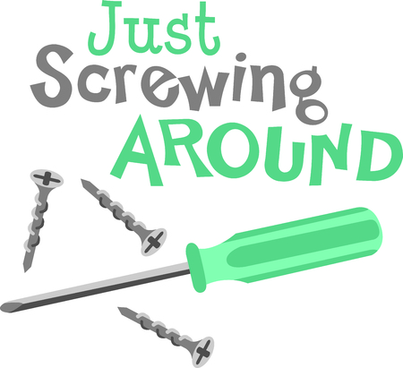 screwing: This screwdriver image is the perfect image for your next design.  Perfect for the handyman working on the honeydo list. Illustration