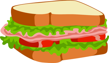 The perfect meal on the go for lunch is a sandwich with all the fixings.  A fun design from Great Notions! Illustration
