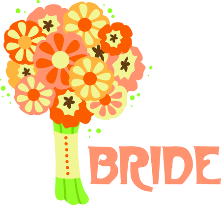 bride bouquet: Planning a bridal shower is so much fun.  Give the couple a special shirt to wear while they prepare for the special day.  They will love it!