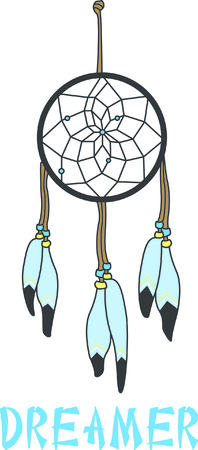 fascinating: This most fascinating of native American culture, the dream catcher.  It lets the good dreams in and keeps the bad dreams away.  Stitch your own custom dream catcher! Illustration