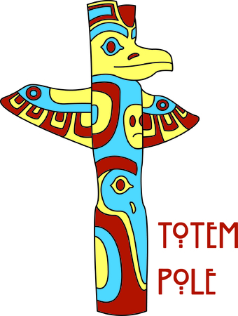 first nations: Totem poles have so many meanings and convey many messages.  Add a special meaning with your embroidery of this amazingly detailed totem pole.