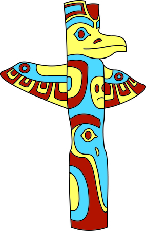 Totem poles have so many meanings and convey many messages.  Add a special meaning with your embroidery of this amazingly detailed totem pole.