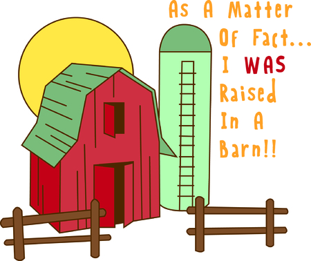 homestead: Lets go down on the farm with this colorful barn and silo.  This is a great way to decorate useful kitchen items like hot pads and mitts.