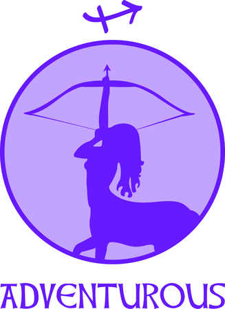 honesty: Display your astrological sign with this beautiful archer for the sign Sagittarius.