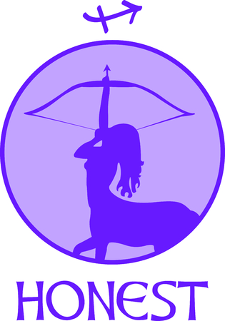 Display your astrological sign with this beautiful archer for the sign Sagittarius.