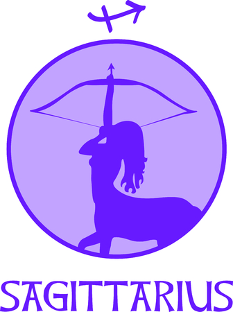 astrological: Display your astrological sign with this beautiful archer for the sign Sagittarius.
