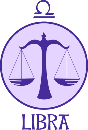 asterism: Display your astrological sign with this beautiful justice scale for the sign Libra.