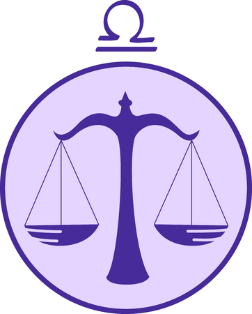 extrovert: Display your astrological sign with this beautiful justice scale for the sign Libra.